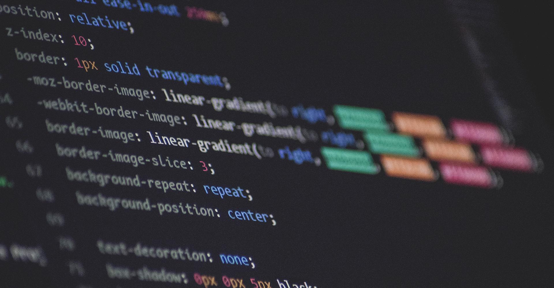 Código CSS de una página web